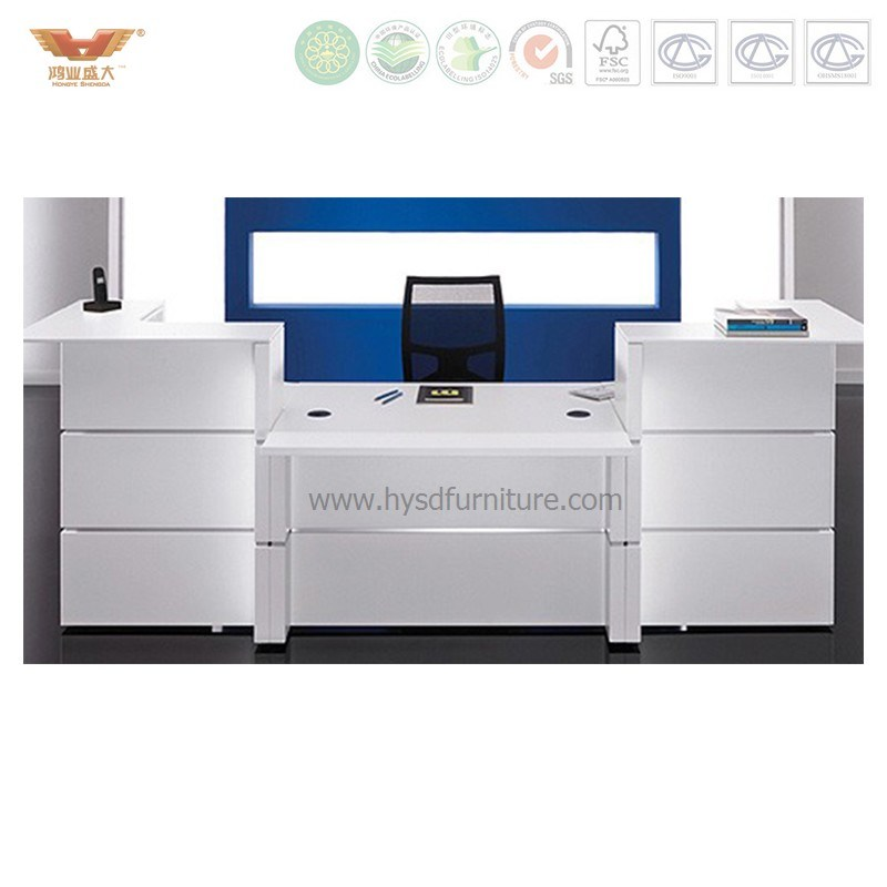 China High Quality Beauty Salon Office Customizable Small Reception Desks Desk Front