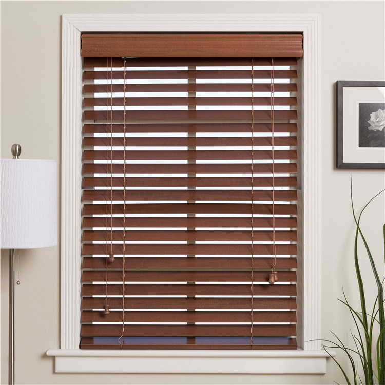 China 50mm Wood Bwood Blinds For