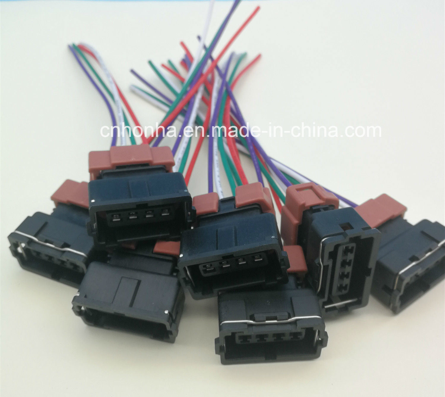 china 4 pin female toyota pbt connector wire harness for denso - china  cable wire, wire harness  honha autoparts group co., limited