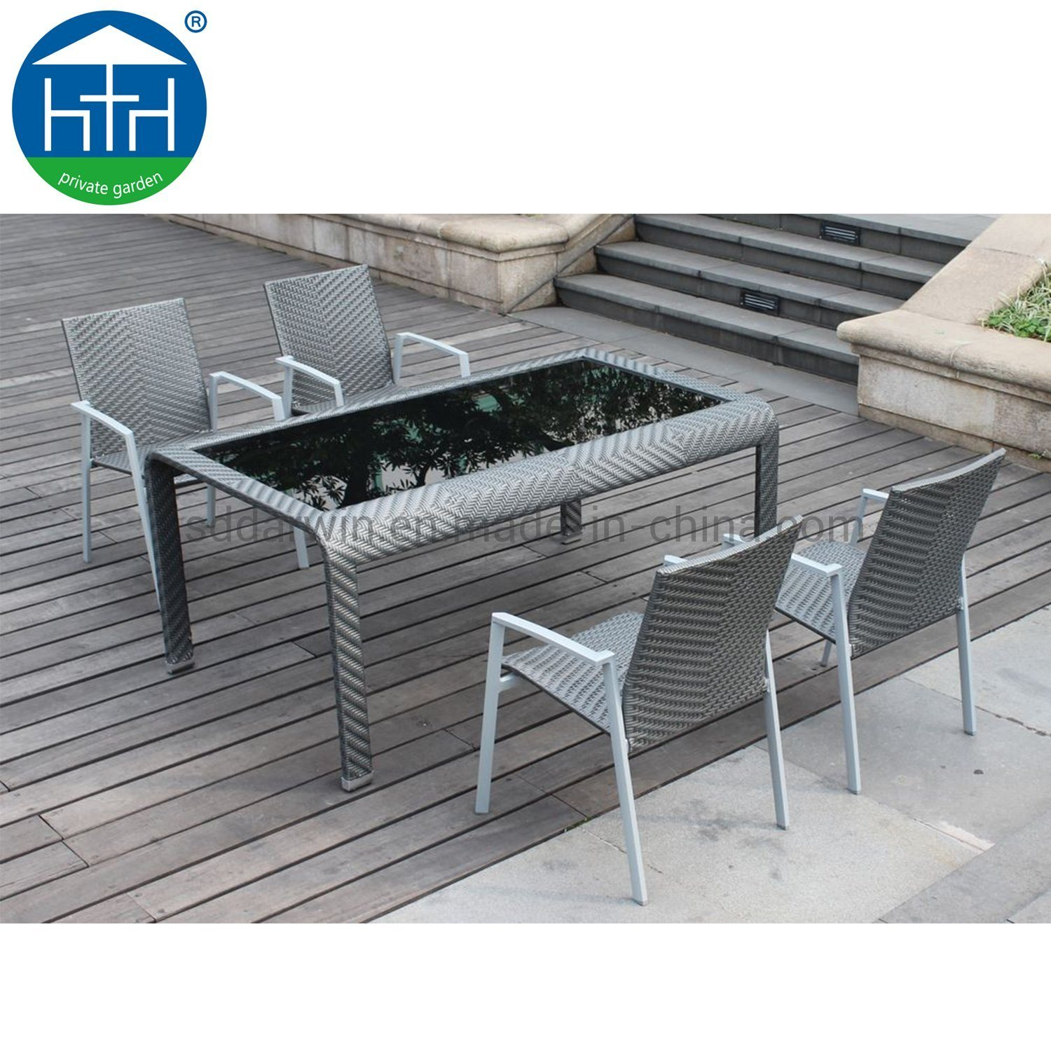 China Wicker Outdoor Furniture Set Dining Table And Chair Garden Patio Setting Photos Pictures Made In China Com
