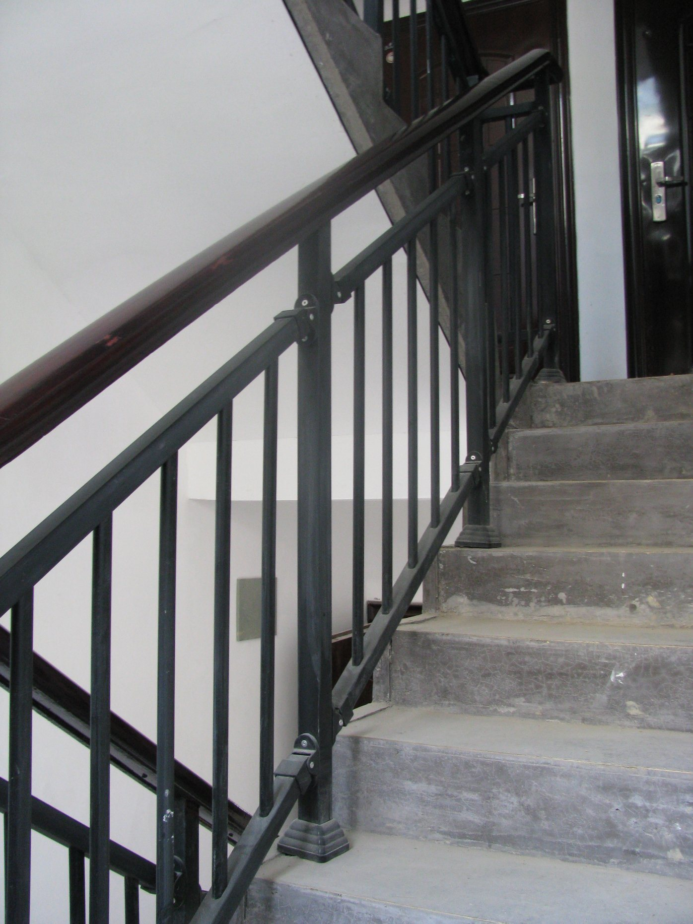 China Black Wrought Iron Stair Railing For Residential Building China Railing Balcony
