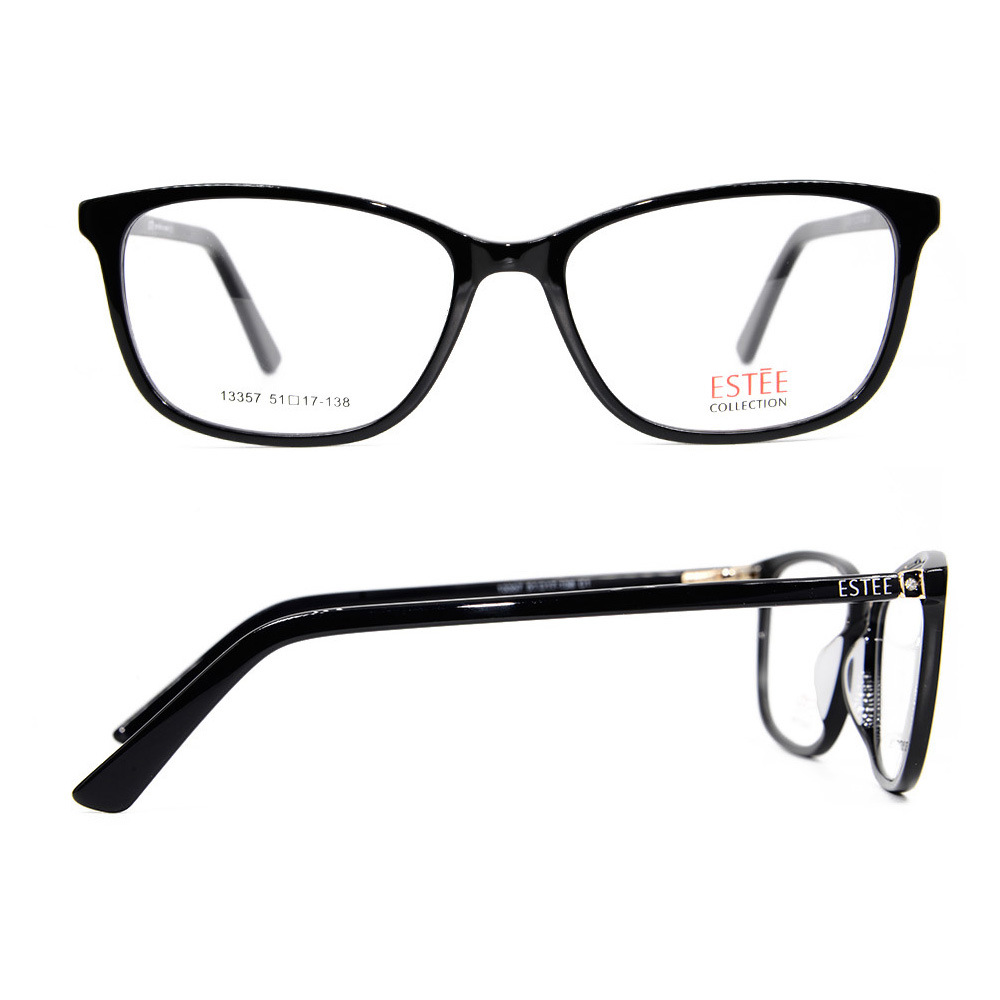 b830a52994c7 Wholesale Hot Sale Diamond Decoration Fashion Design Eyewear Acetate Spectacles  Frame for Women