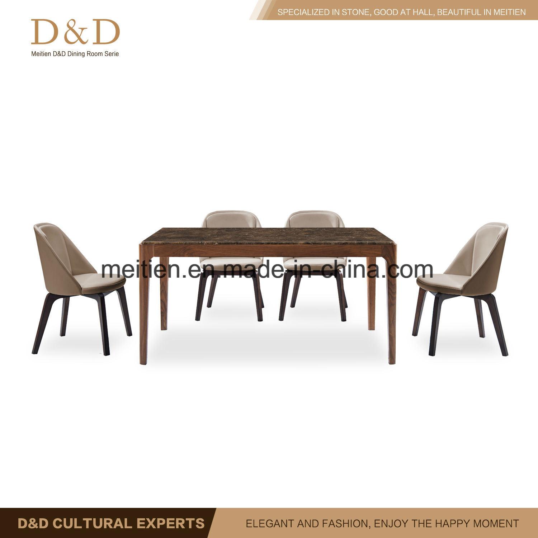 Outstanding Hot Item Home Room Furniture Set Marble Beech Wood Dining Table With Beech Wood Leg Frankydiablos Diy Chair Ideas Frankydiabloscom