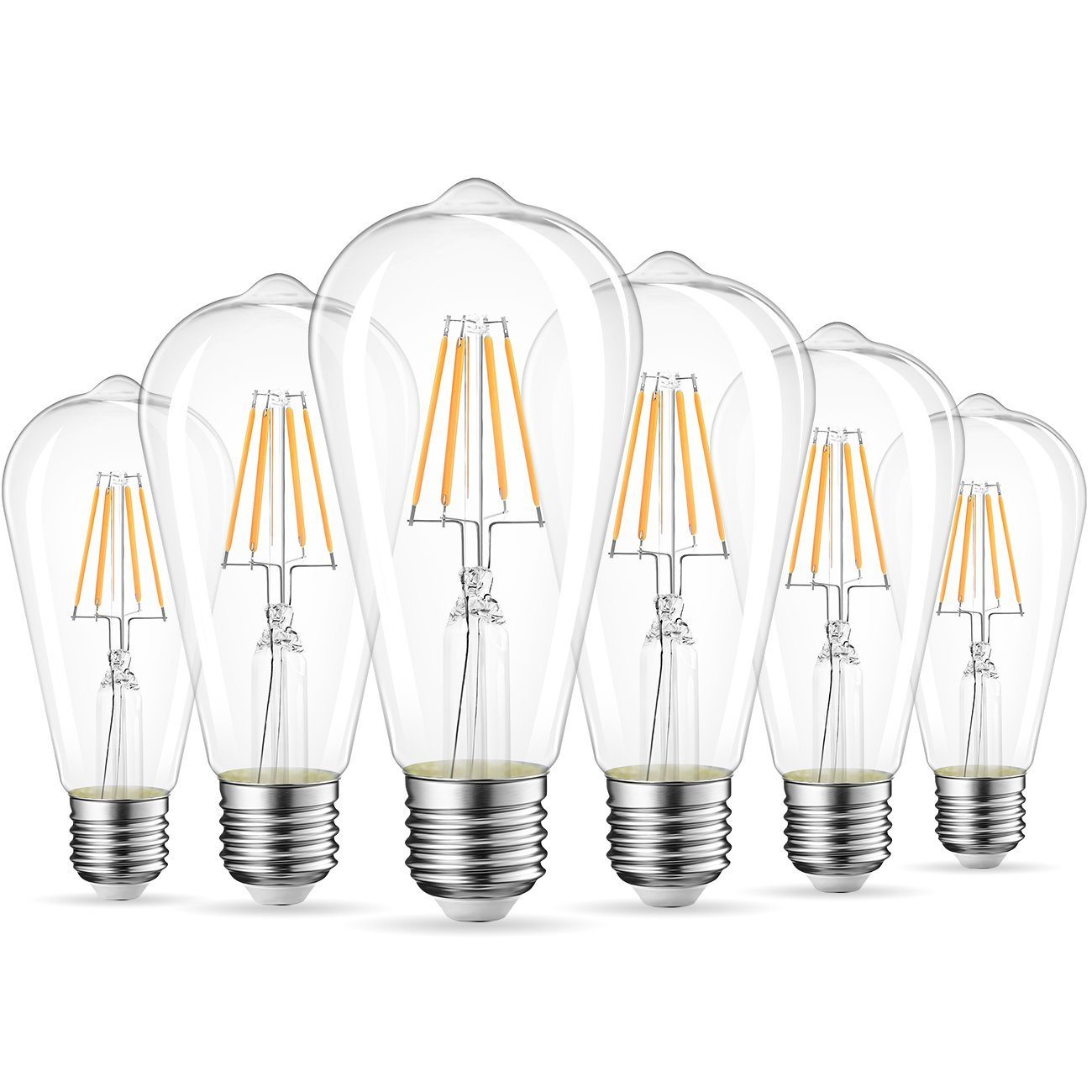 ST64 B22 40W Dimmable Vintage Filament Light Lamp Bulb Squirrel Cage