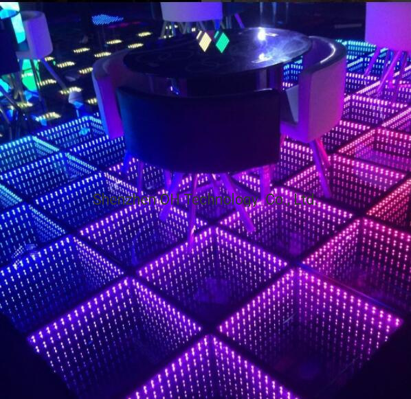 China Disco Lighting 3D Mirror RGB Colorful LED Dance ...