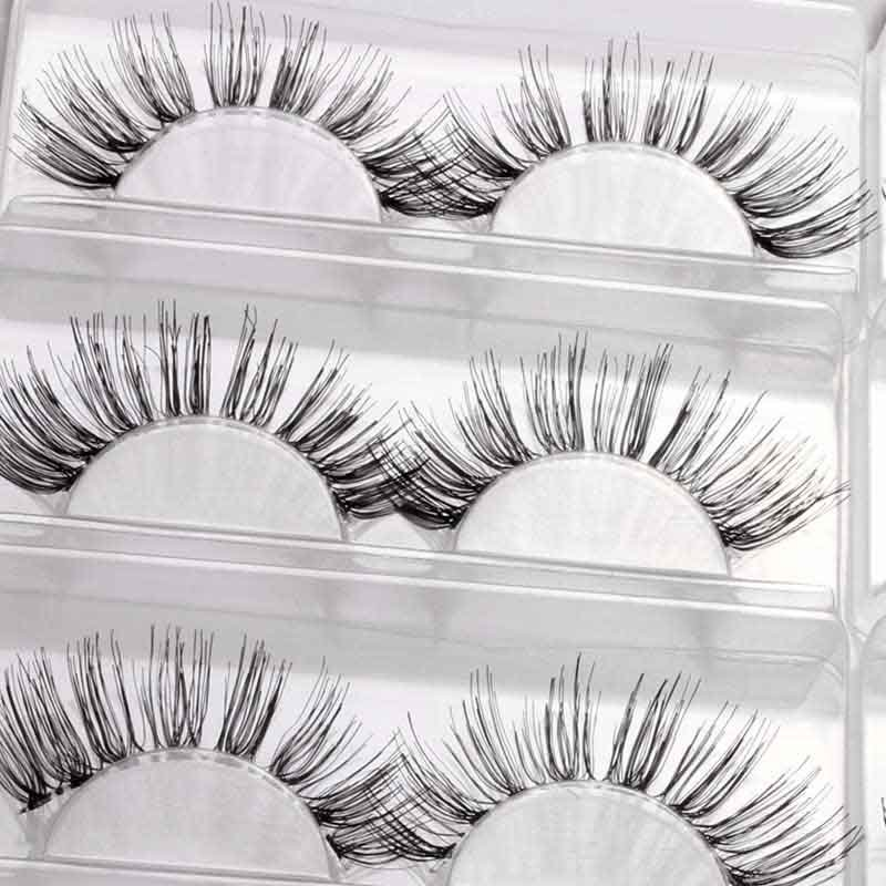 China Hot 7 Pairs Natural False Eyelashes Kit Makeup Fake Eye Lashes