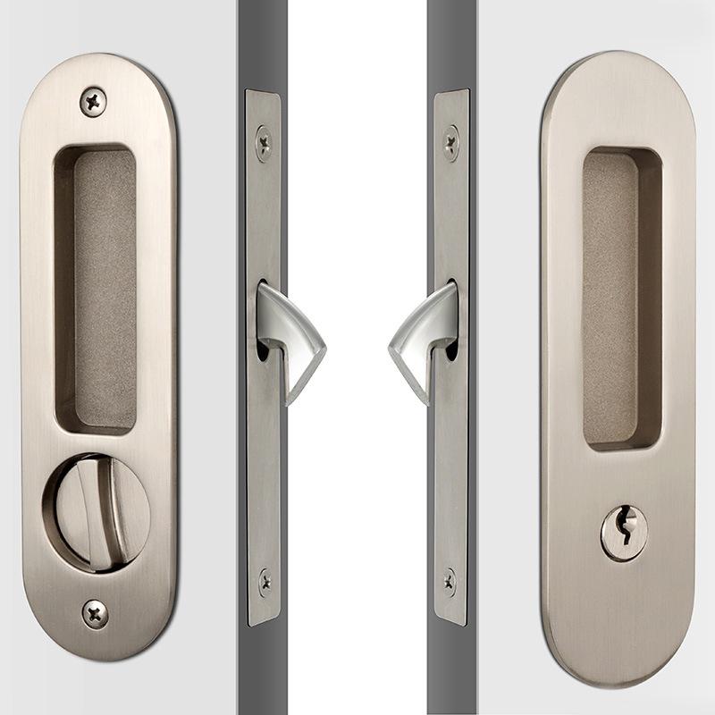China Modern Round Face High Security Sliding Glass Door Key Lock