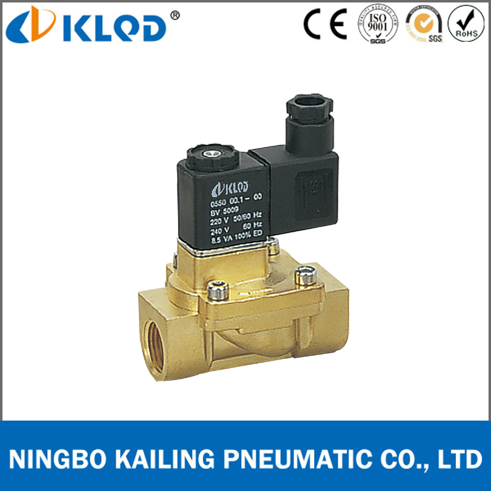 """3//4/"""" Brass Electric Water Solenoid Process Valve Low Power Consumption 220V AC"""