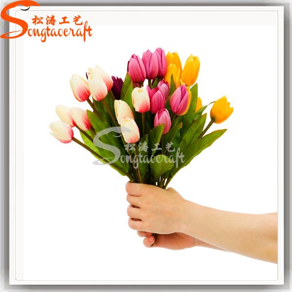 Garden Silk Vision Decoration Artificial Wedding Flowers Wholesale Fake  Tulips e7693498e5