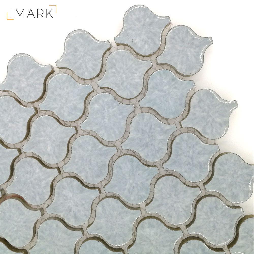 - China Mini Arabesque Lantern Porcelain Mosaic Tile For Kitchen