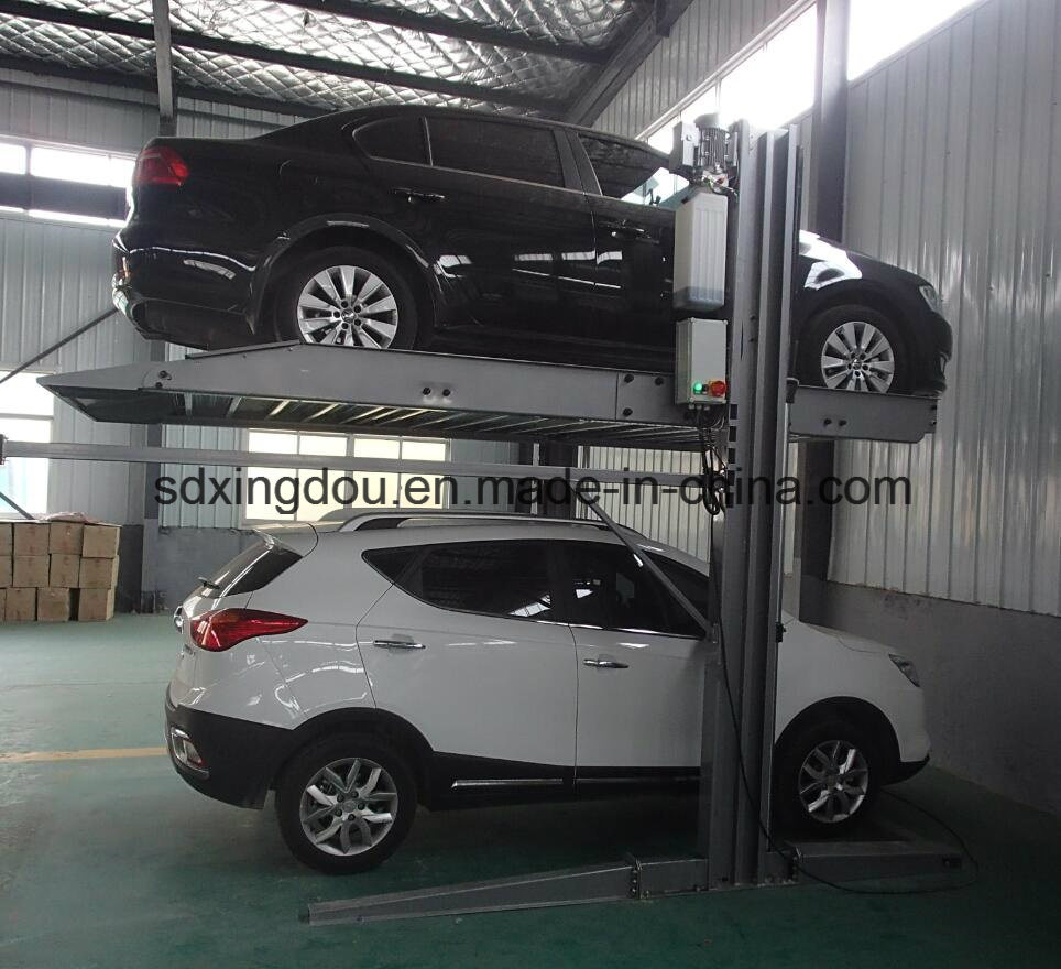 China Hydraulic Two Post Car Parking System Car Lift For Basement