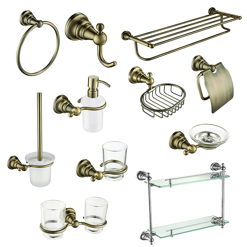 China High Quality Bathroom Accessories in Antique Brass for Hotel ...