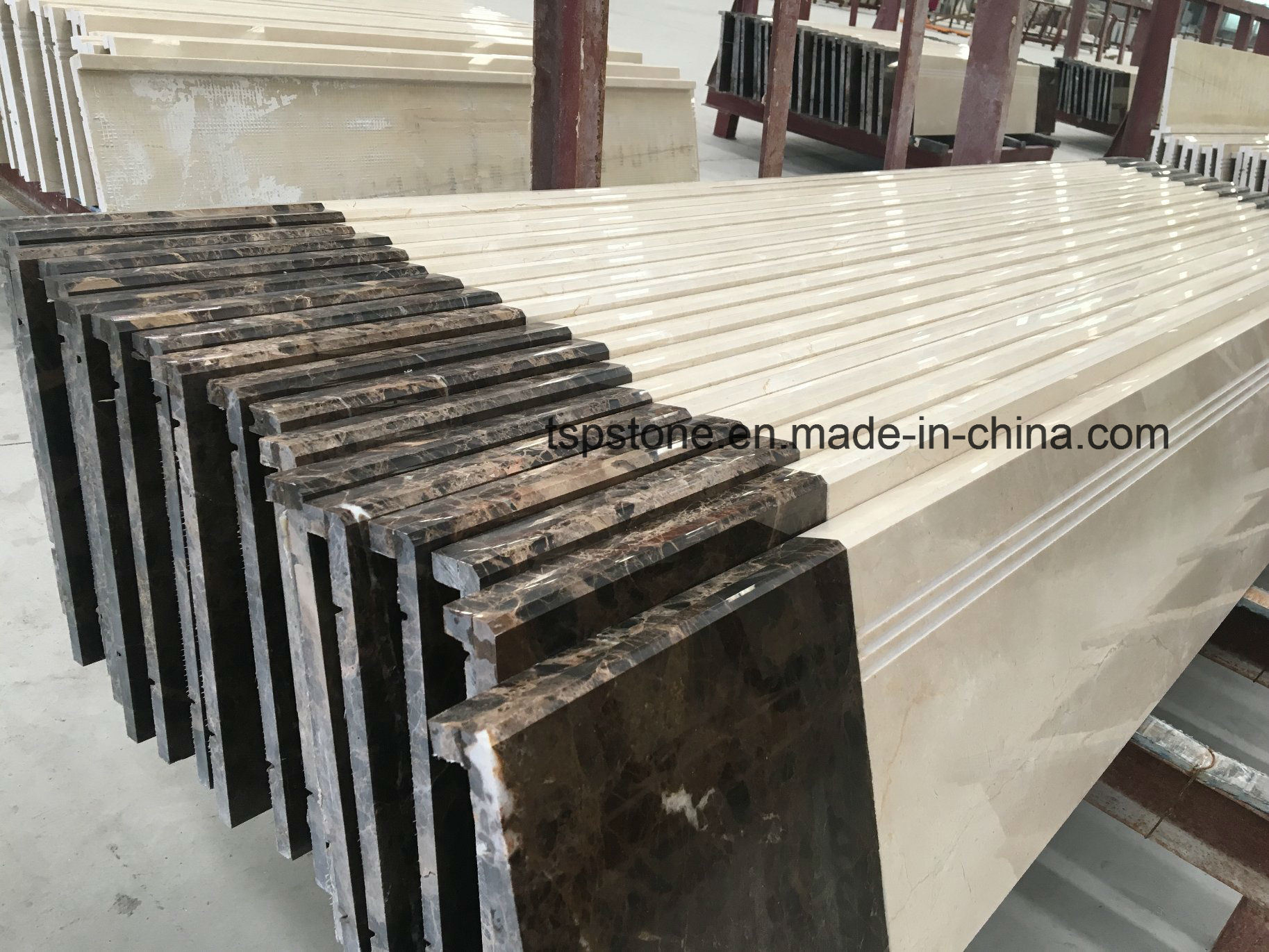 Elegant China Marble Staircase With Marble Stair Tread With Flat Polishing Edge    China Marble Stair, Marble Stair Tread