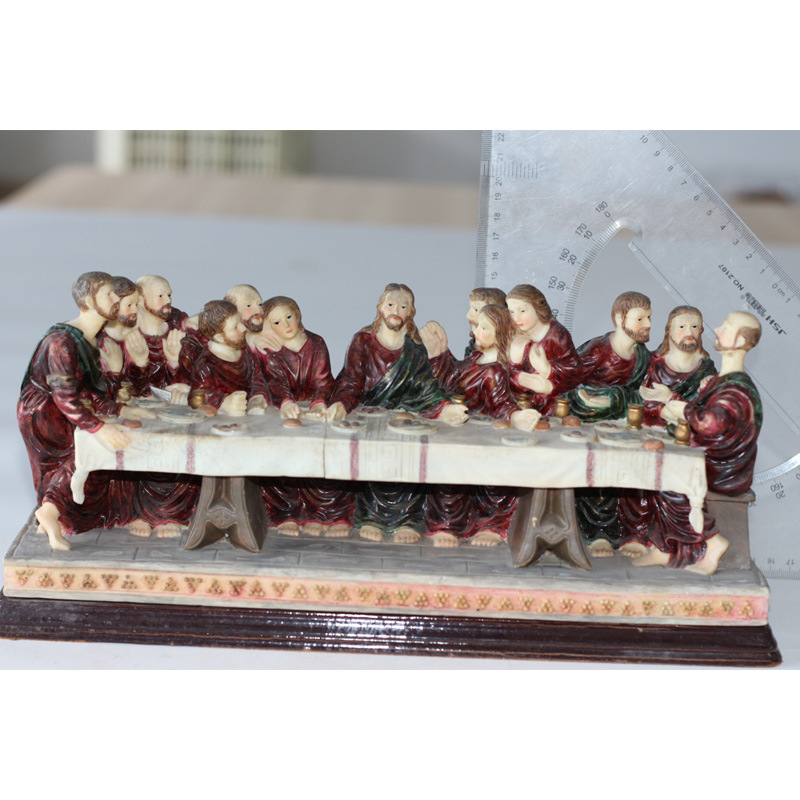 Decorative Custom Resin Religious Figurine Last Supper for Sale pictures & photos
