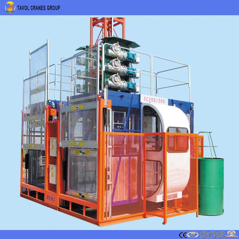 [Hot Item] Sc200/200 2ton Double Cage Passenger Hoist Construction Hoist