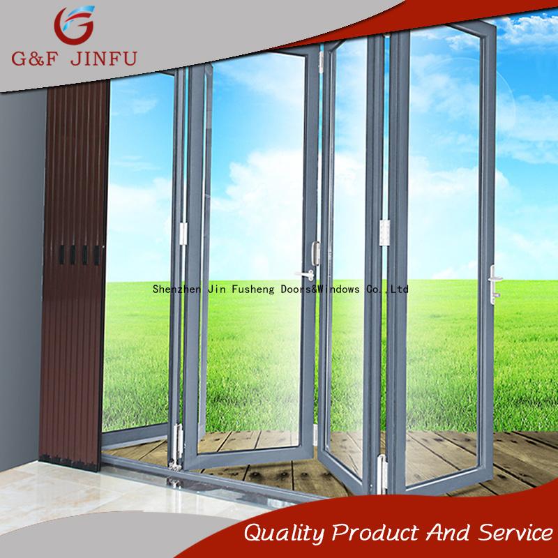 China Aluminum Alloy Glass Patio Bi Folding Door With Multi Panel