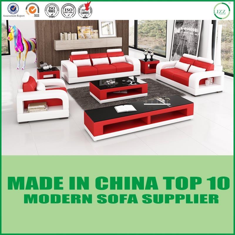 [Hot Item] Modern Living Room Set Leather Sectional Sofa