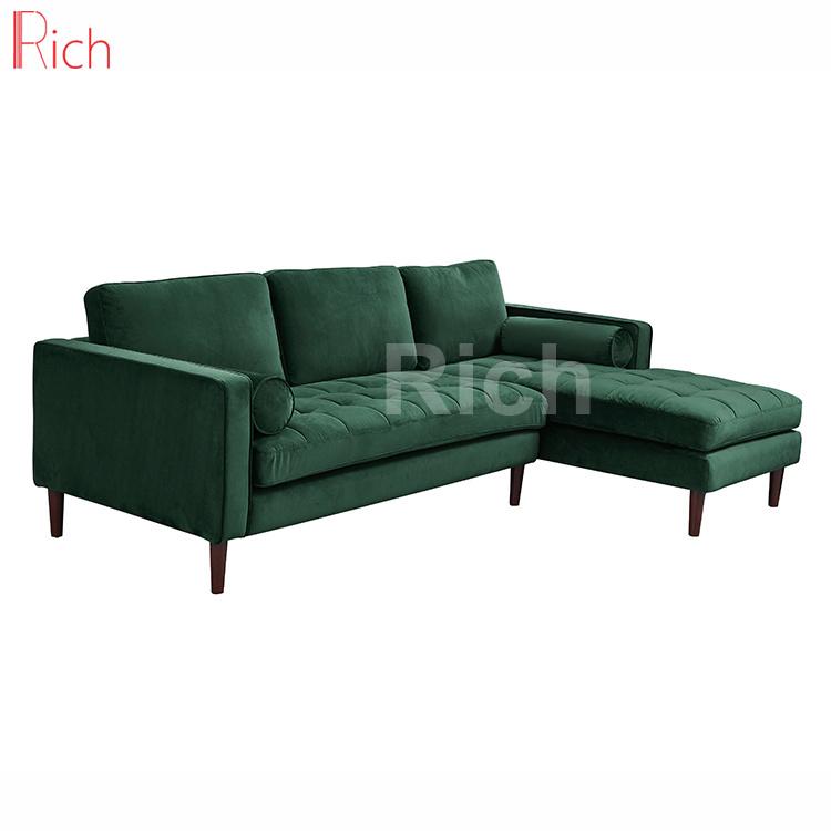 Chinese Furniture Green Velvet Cushion