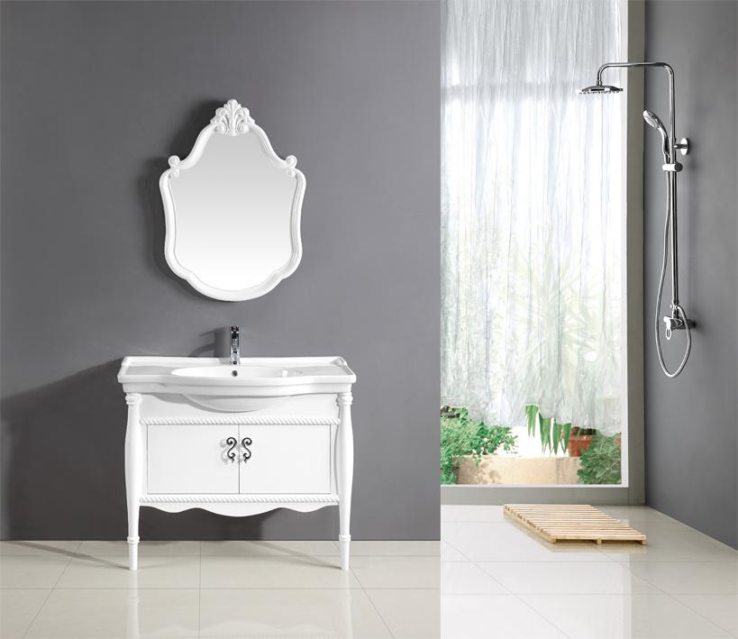 China Solid Wood Cabinet Bathroom