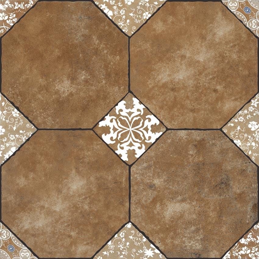 China Classic European Flower Style Polished Glazed Ceramic Floor