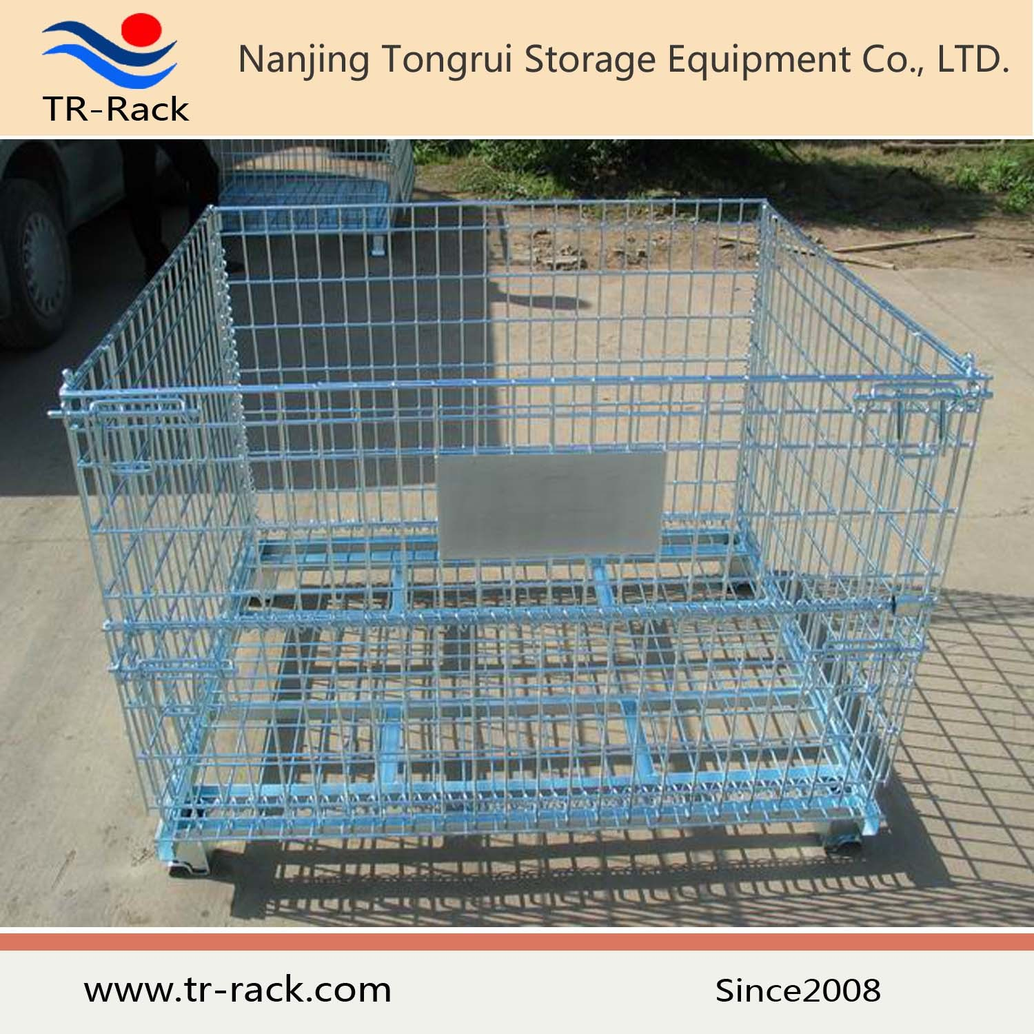 China Industry Galvanized Wire Mesh Folding Storage Cage - China ...