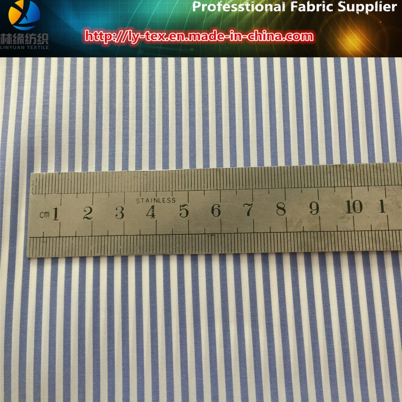 Prompt Goods! Polyester T400 Fabric Yarn Dyed Stripe Fabric with Wicking for Shirt pictures & photos