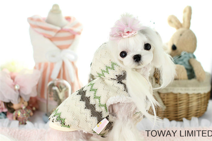 Fashion Lace Quality Cotton Dog Hoodie Coat Pet Jackets pictures & photos