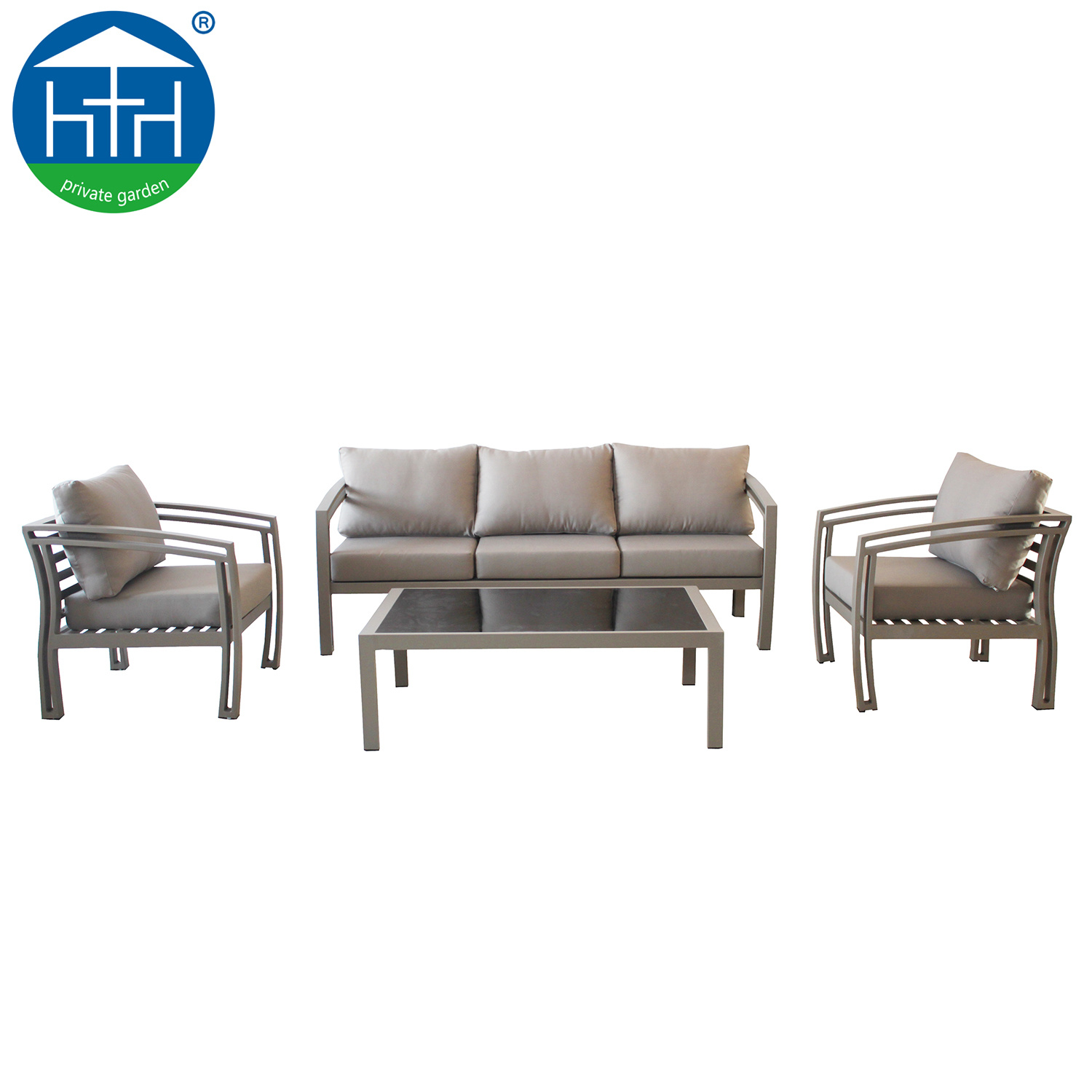 China four season outdoor furniture powder coating aluminum sofa lounge china patio aluminum sofa patio sofa lounge