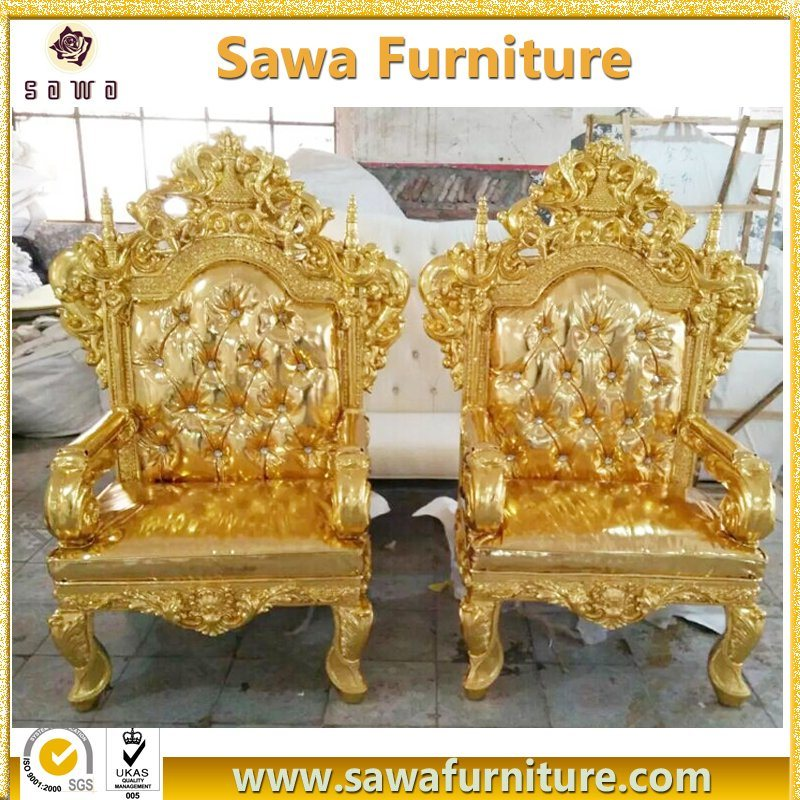 China Commercial Use Antique Gold King Throne Chair for Sale - China King  Chair, Queen Chair - China Commercial Use Antique Gold King Throne Chair For Sale - China