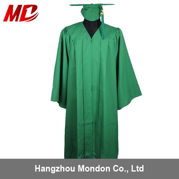 China Summer Hot Sale Green Matte Graduation Cap & Gown with Best ...