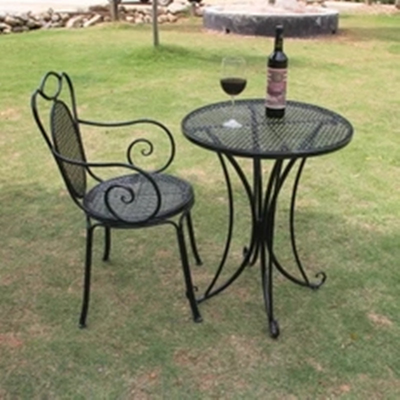 Folding White Metal Wire Mesh Outdoor Furniture pictures & photos