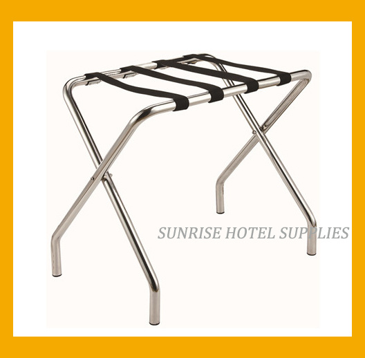 Hotel Metal Luggage Rack with Black Straps pictures & photos