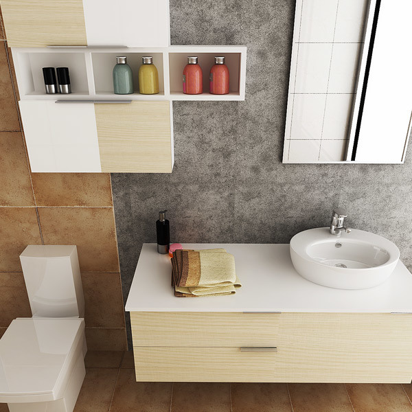 Oppein Australia Fashion PVC Hanging Bathroom Cabinet Vanity (OPW-PVC01) pictures & photos
