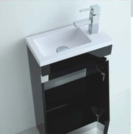 New Hot Sale Italian MDF Bathroom Vanity with Mirror pictures & photos