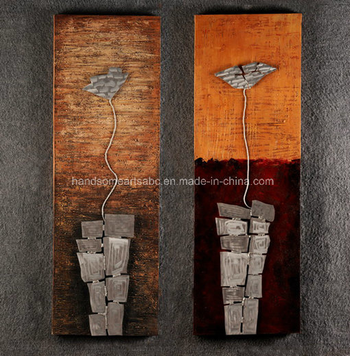 Impressionist and Modern Metal Flower Wall Art