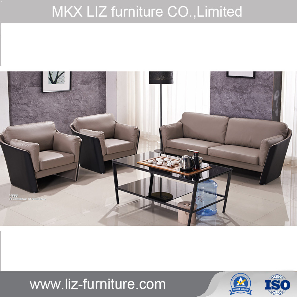 [Hot Item] Commercial Office Furniture Modern Leather Sofas Set Office  Reception Sofa (Y338)