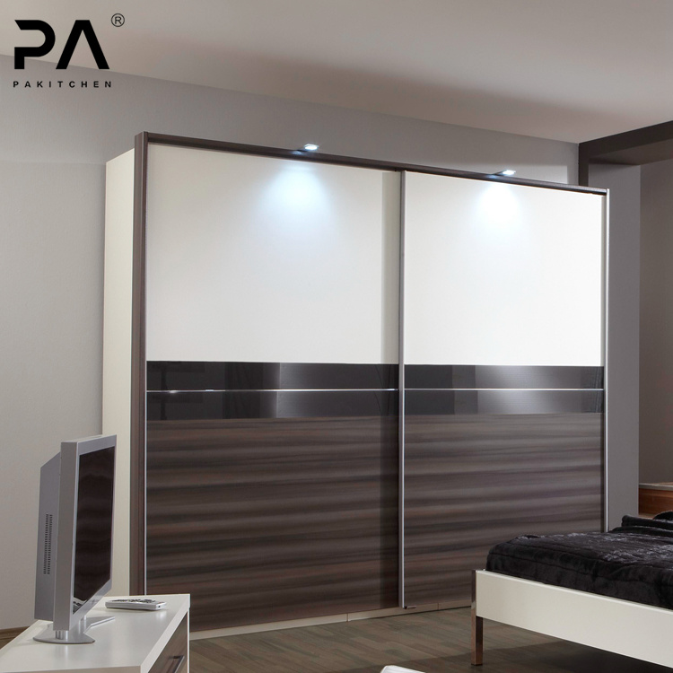 China Custom Modern Style Standard Size Bedroom Wardrobe With Sliding Door China Wardrobe Closet