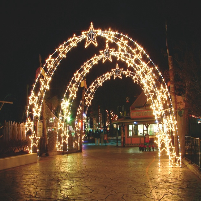 Christmas Lights Outdoor.Hot Item Led Christmas 3d Large Arch Light Outdoor Decoration Arch Street Motif Star String Light