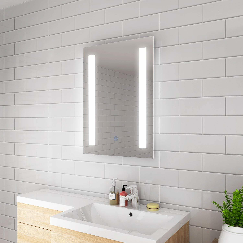 China Sally LED Illuminated Fogless LED Digital LED Bathroom Mirror - China  LED Bathroom Mirror, LED Makeup Mirror