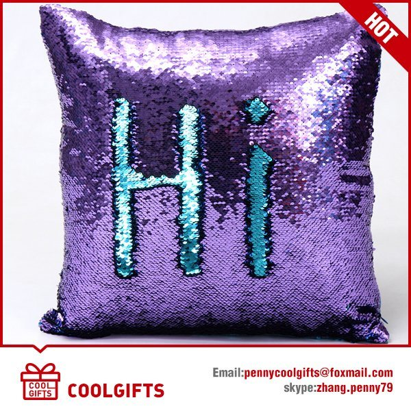 Magic Sequins Mermaid Pillow Cover, Reversible Sequin Color Changing Pillow
