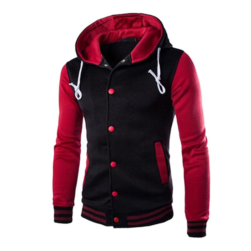 New Men/'s Winter Slim Hoodies Warm Hooded Sweatshirt Coat Jacket Outwear Sweater