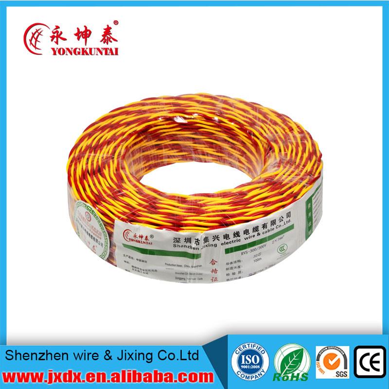 Rvs PVC Insulated Flexible Twin Twisted Electrical/Electric Power Cable Wire