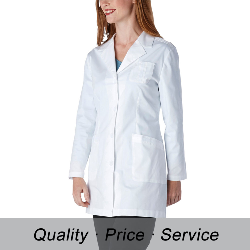 100% Cotton Customized Lab Coat with Logo Embroidery