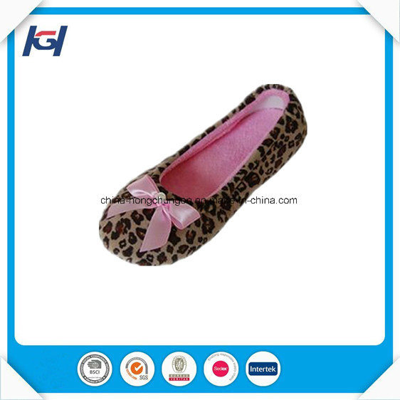 Fancy Nice Warm Soft Sole Ballet Indoor Slippers Wholesale pictures & photos