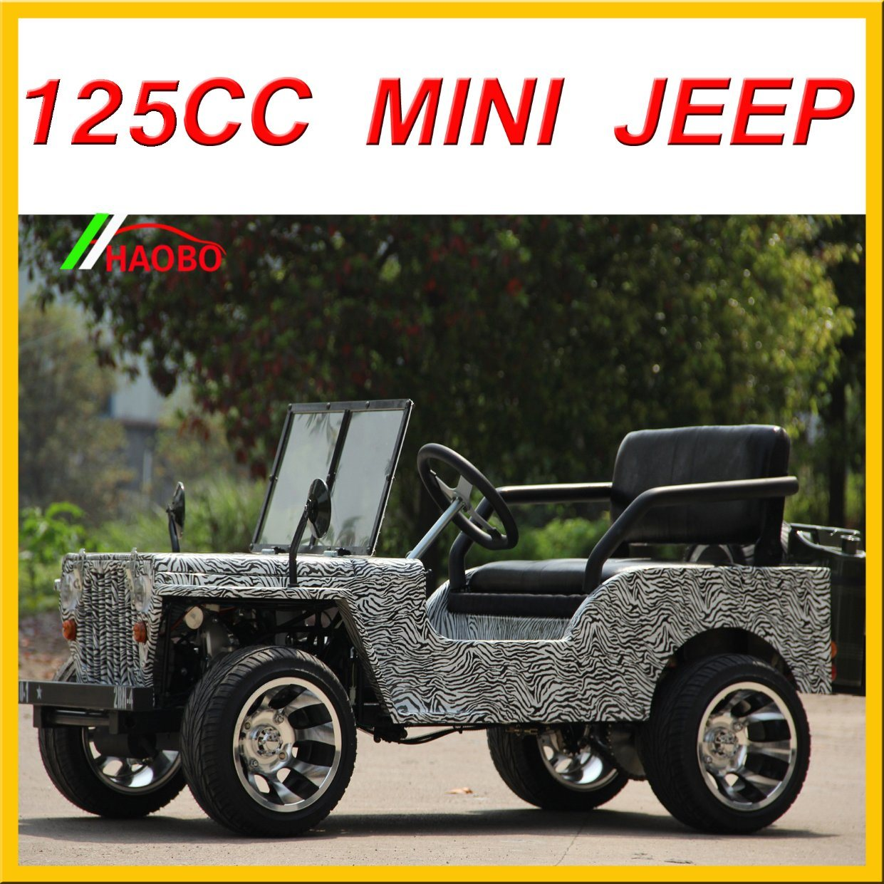 China Newest Willys Mini Jeep Lq-Jp for Sale 110cc 125cc 150cc 200cc Options