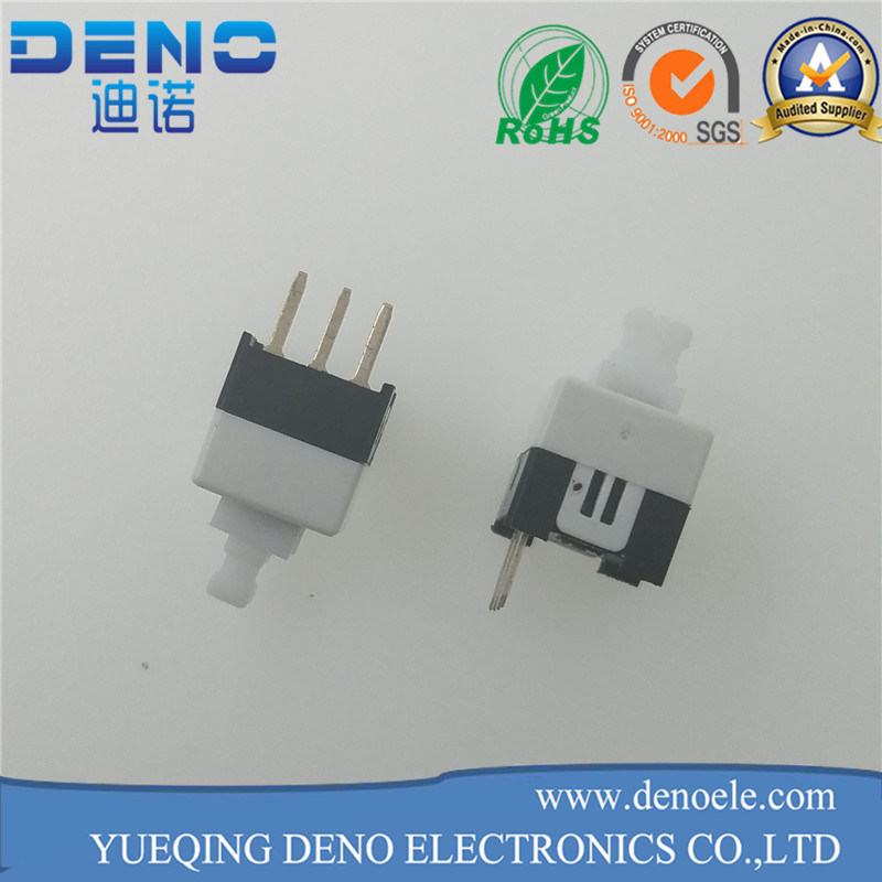 Hot Selling Balck White 7*7 Self Locking Switch pictures & photos