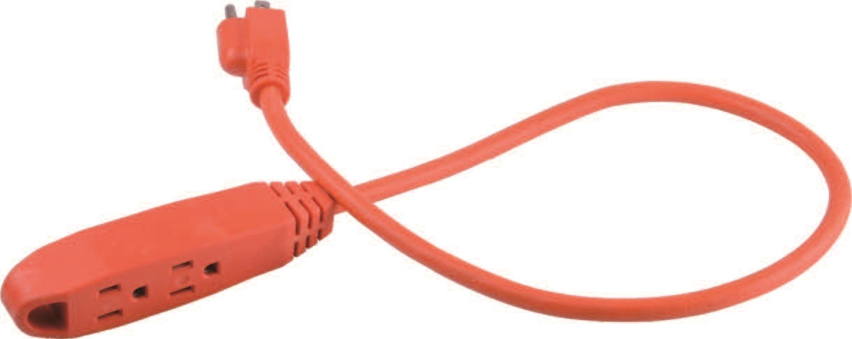 3 Outlets Utility Extension Cord with Black/White/Red Color Available 06-Ggpt6916