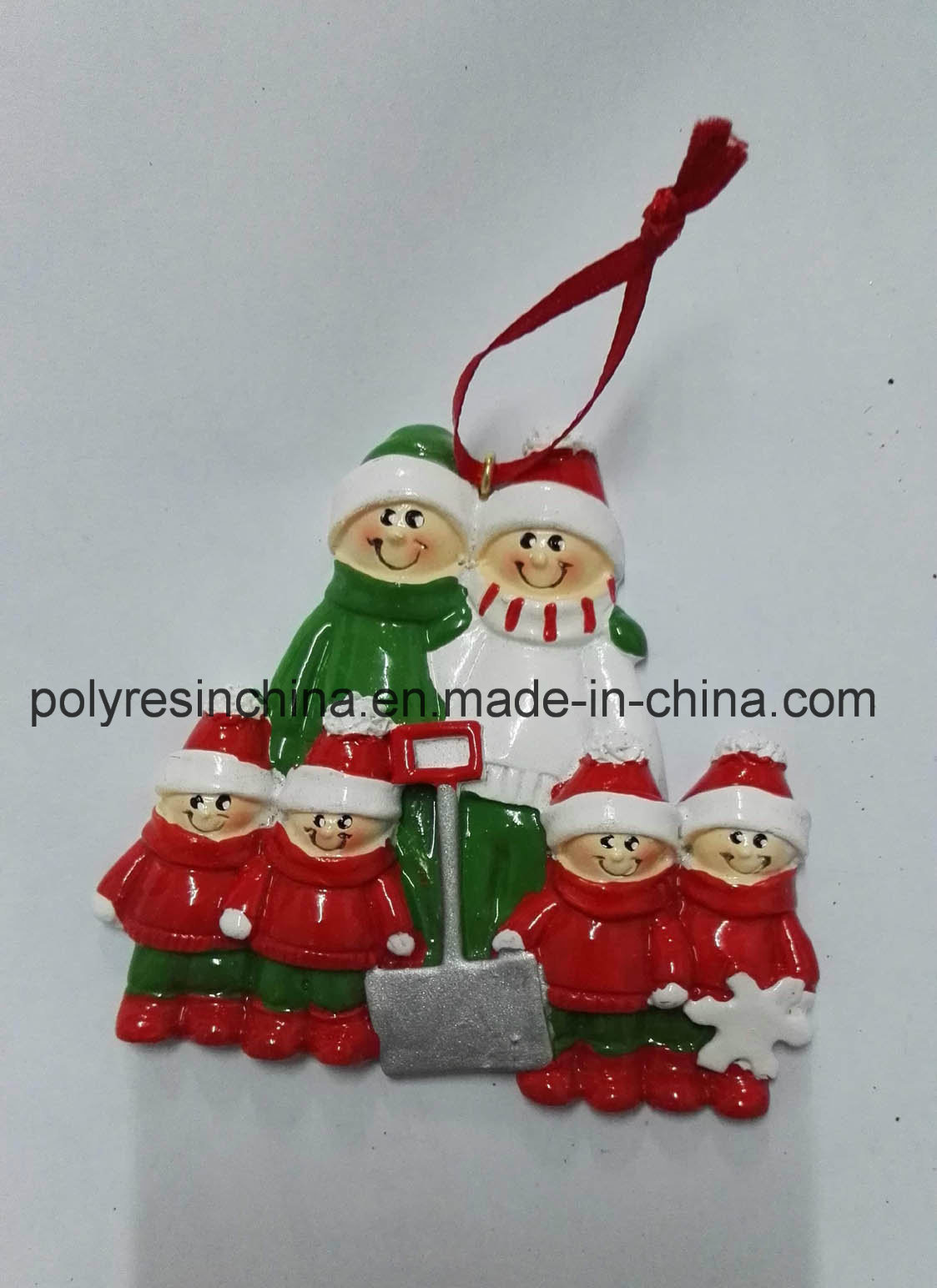 Resin Tree Decoration of Personalized Christmas Ornaments