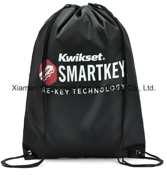Wholesale Cheap Promotional Gift Bag Custom Printed Waterproof Sling Bag Sports Gym Sack Bag Travel Shoe Bag 100% Polyester Nylon Drawstring Cinch Backpack Bags pictures & photos