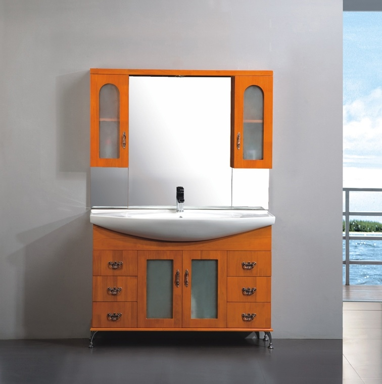 China Hi-Quality Wood Bathroom Vanities (OSL8650) - China ...